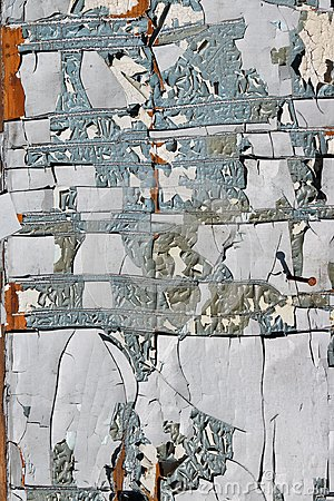 Free Cracked Paint Pieces On An Old Wooden Aged Rural Shed Surface. Stock Image - 113224721