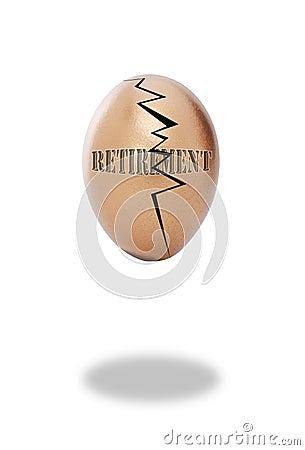 Cracked retirement egg