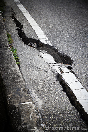 Cracked Road Royalty Free Stock Photos - Image: 23231218