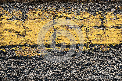 Cracked Road Marking