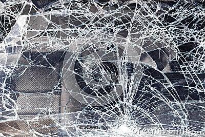Cracked vehicle windscreen