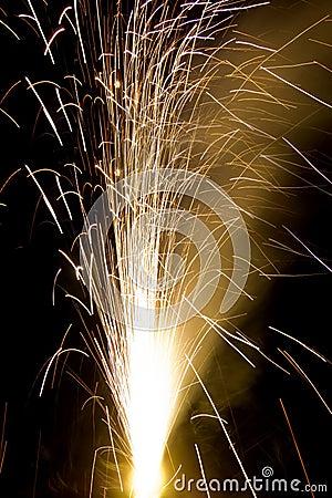 A Cracker Is Burning On Diwali