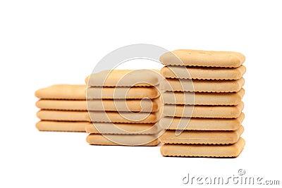 Cracker di soda del saltine del palo.