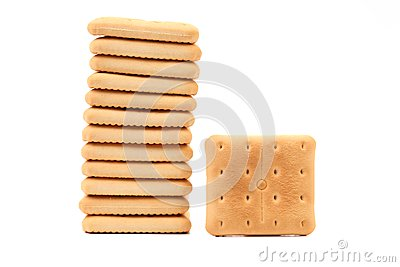 Cracker di soda del saltine del palo.