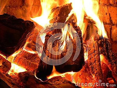 Crackling of a fire