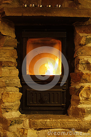 Crackling Fire Cozy Atmosphere Royalty Free Stock