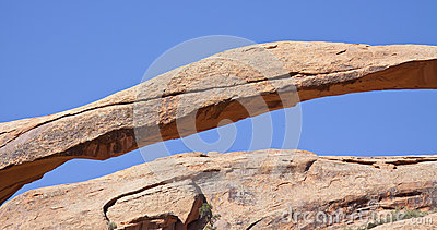 Cracks in Landscape Arch