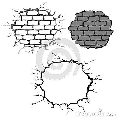 Free Cracks On Brick Wall Royalty Free Stock Images - 11157059