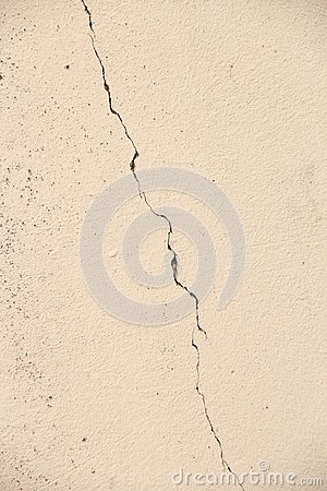 Cracks on plaster wall