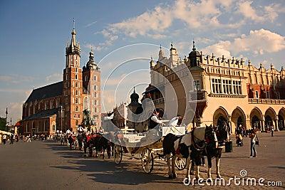 Cracow krakow Польша Редакционное Фото