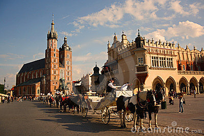 Cracow (Krakow, Poland) Foto Editorial