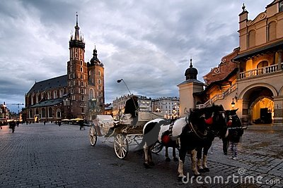 Cracow (Krakow) in Poland Editorial Photography
