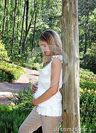 Free Cradling The Unborn Royalty Free Stock Image - 10729816