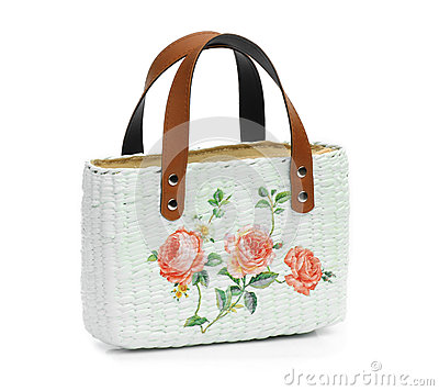 Craft Bag with decoupage