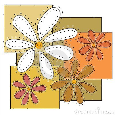 Craft Flowers Quilt Background