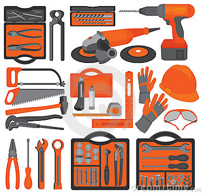 Free Craft Icons – Hand Tools (Set 1) Royalty Free Stock Images - 11691949
