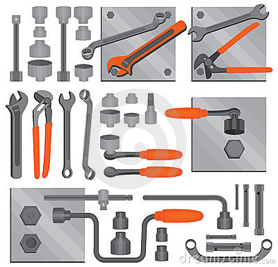 Free Craft Icons – Hand Tools (Set 6) Royalty Free Stock Image - 11691966