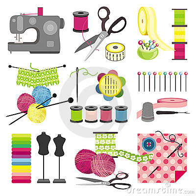 Free Craft Icons - Sewing Royalty Free Stock Photo - 11121155