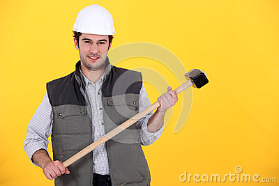Craftsman with hammer