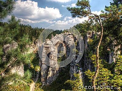 A crag