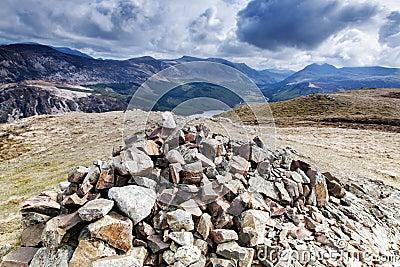 Crag Fell Summit overlooking Ennerdale Water