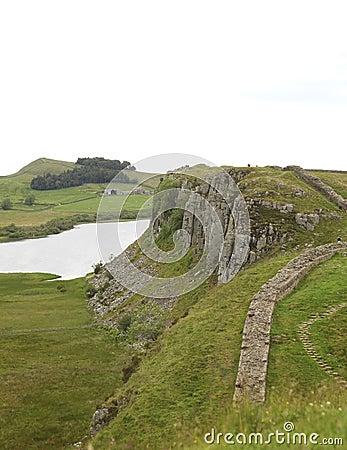 Crag Lough at Hadrian s wall