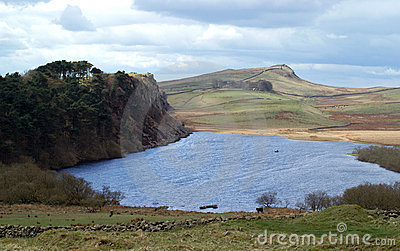 Crag Lough and Hadrians Wall