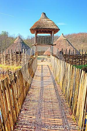 The Craggaunowen settlement in  Ireland.