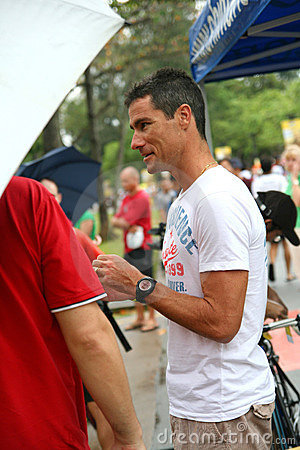 Craig Alexander at Aviva Ironman 70.3 Singapore Editorial Photo