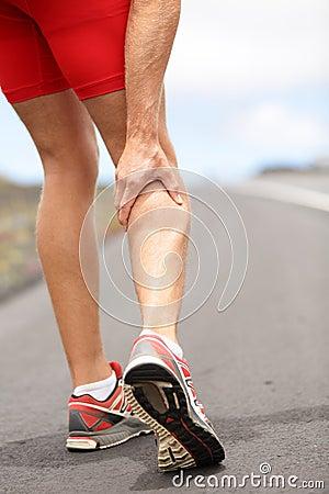 Free Cramps In Leg Calves Royalty Free Stock Photos - 26261088