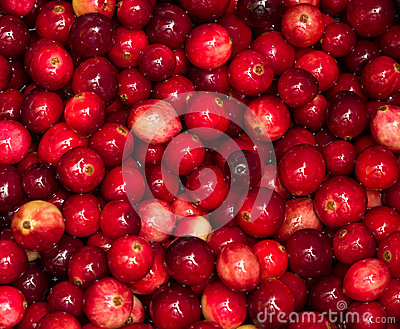 Cranberries boiling in pot