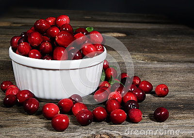 Cranberries White Bowl
