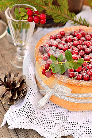 Free Cranberry Cake Stock Photography - 44398792