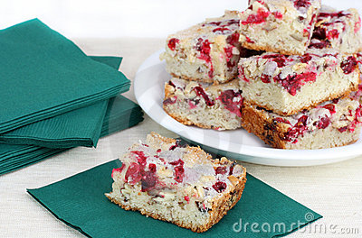 Cranberry Nut  Bar Cookies
