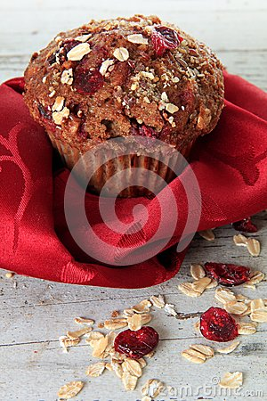 Cranberry bran muffin