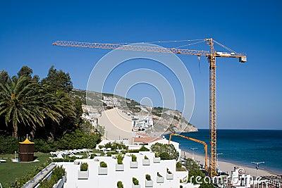 Crane on beach