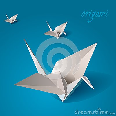 Free Crane Bird Origami Vector Stock Photos - 24881573