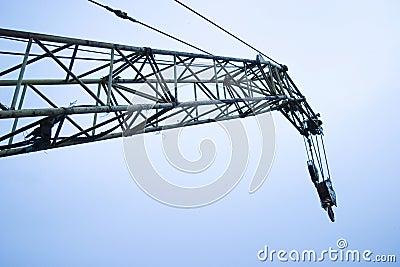 Crane boom and sky