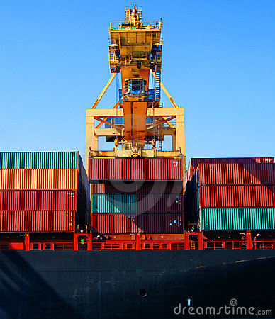 Free Crane & Cargo Containers Stock Image - 3640531