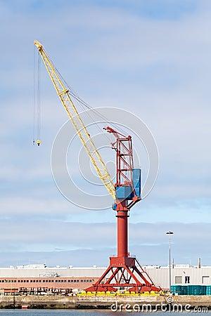 Crane at a Cargo Dock