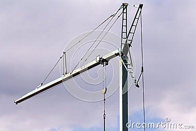 Crane in a cloudy day