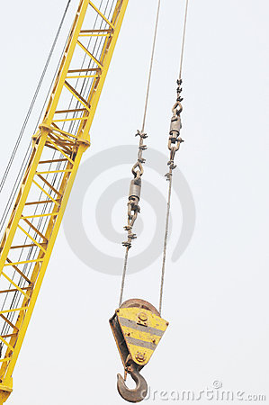 The crane column and hook