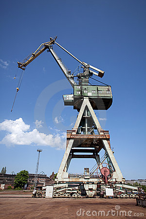 Crane in Gdansk shipyard