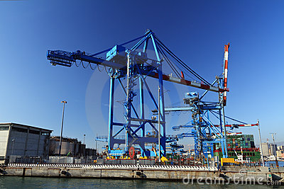 Crane in Genova port