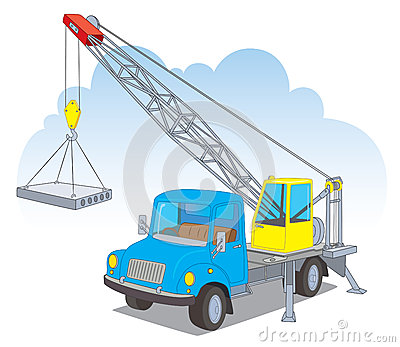 A crane with a load