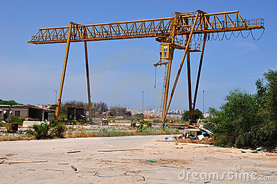 Crane out of use.