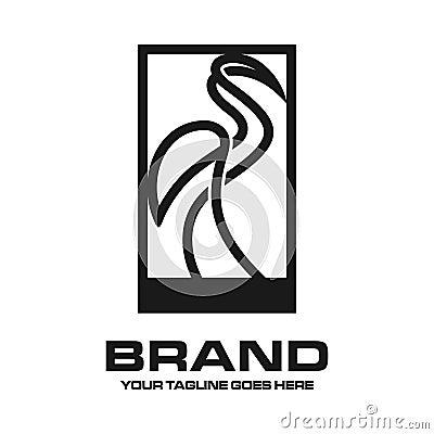 Crane outline logo Vector Illustration