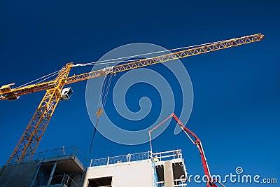 Crane over construction site
