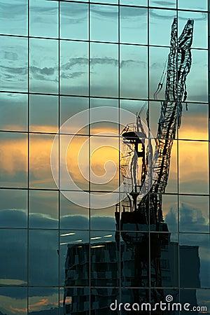 Free Crane Reflected Stock Image - 354031
