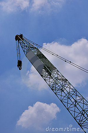 Crane with sky background